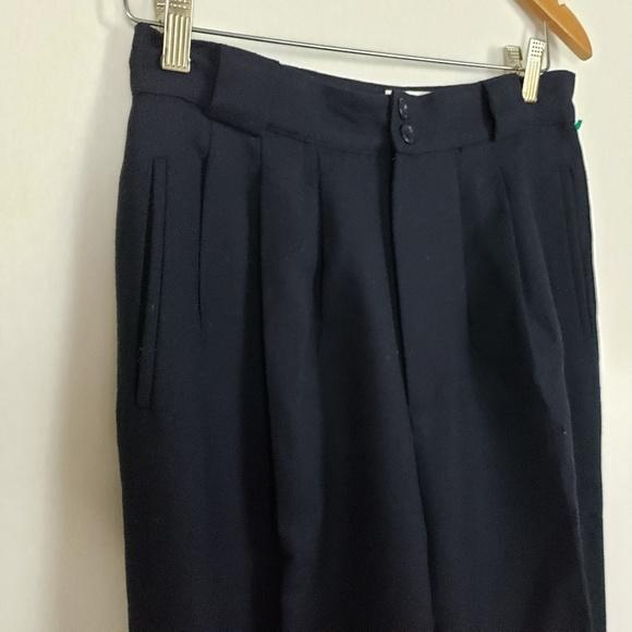 Vintage Pants - Vtg Casual Corner Wool Trousers Women's Sz 12 Blue